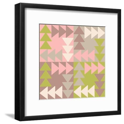 Decorative Vector Poster Geometric Shapes- matryoshka123-Framed Art Print