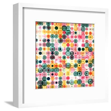 Circles Pattern Retro Background- Reuki-Framed Art Print