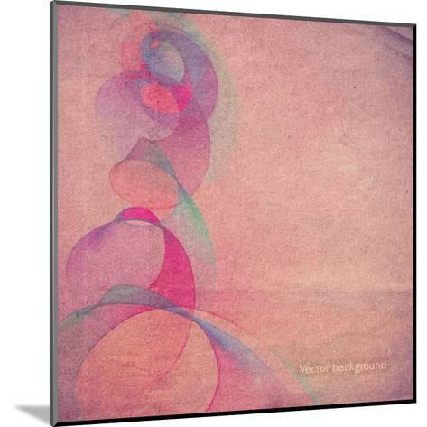 Grunge Retro Vintage Paper Texture, Vector Background-LeksusTuss-Mounted Art Print