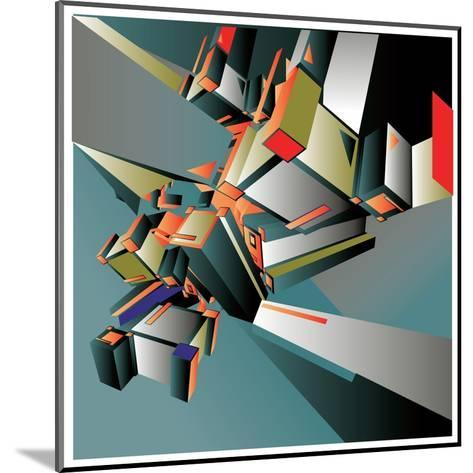 Geometric Colorful Design Abstract Background for Poster- singpentinkhappy-Mounted Art Print