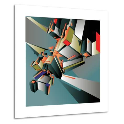 Geometric Colorful Design Abstract Background for Poster- singpentinkhappy-Metal Print