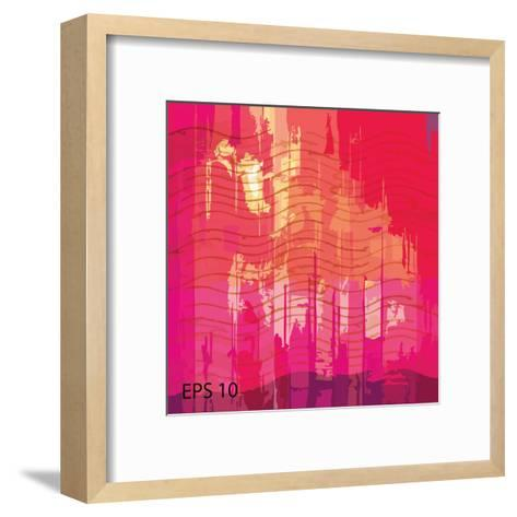 Vector Grunge Background with Space for Your Text-iulias-Framed Art Print