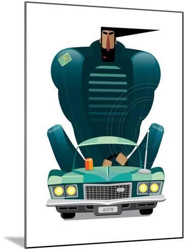 Car&Man- AriSys-Mounted Art Print