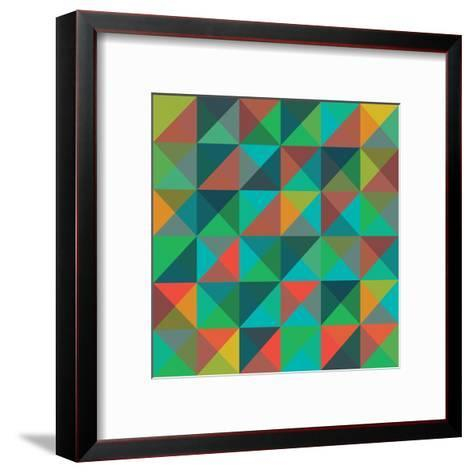 An Abstract Geometric Vector Pattern-Mike Taylor-Framed Art Print