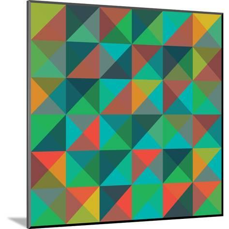 An Abstract Geometric Vector Pattern-Mike Taylor-Mounted Art Print