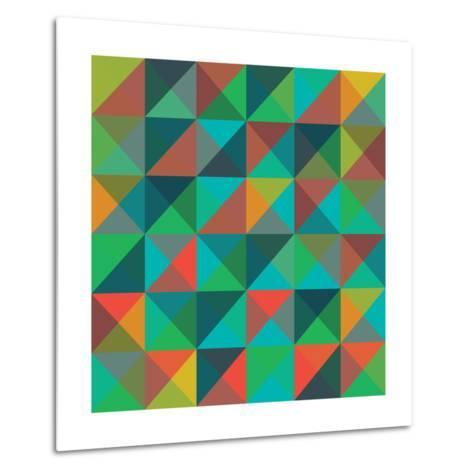 An Abstract Geometric Vector Pattern-Mike Taylor-Metal Print