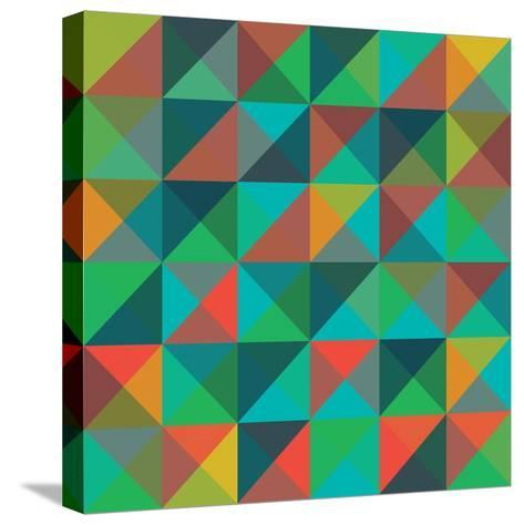 An Abstract Geometric Vector Pattern-Mike Taylor-Stretched Canvas Print