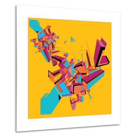 Geometric Design Abstract Background for Poster- singpentinkhappy-Metal Print