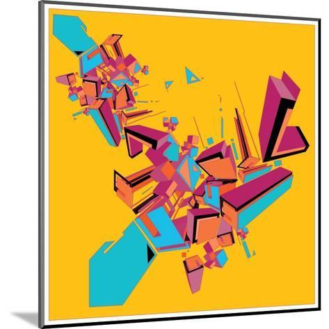 Geometric Design Abstract Background for Poster- singpentinkhappy-Mounted Art Print