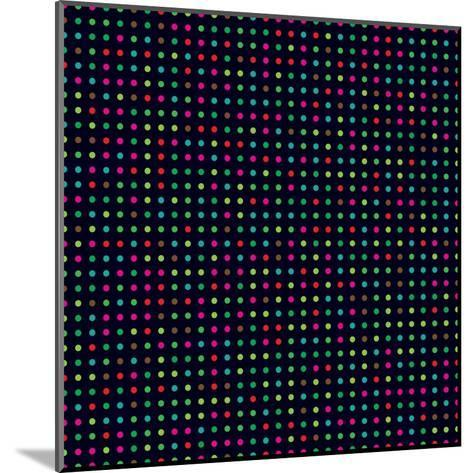 Bright Colorful Dots on a Dark Background- Leone_V-Mounted Art Print