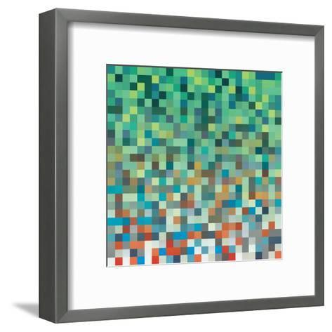 Pixel Art Style Pixel Background-Mike Taylor-Framed Art Print