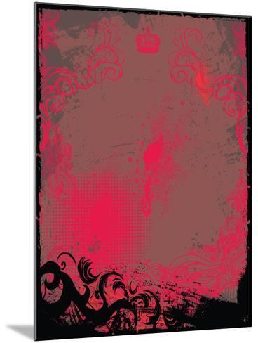 Grunge Background- Maksbart-Mounted Art Print