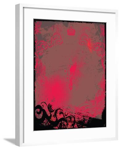 Grunge Background- Maksbart-Framed Art Print