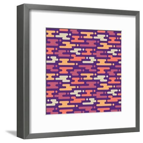 Abstract Geometric Background - Seamless Vector Pattern in Flat Style Design. Pink, Lilac and Viole-Sergey Korkin-Framed Art Print