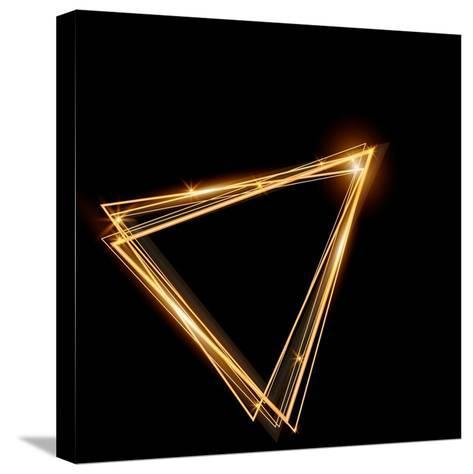 Gold Triangle Glowing Frame. Abstract Background. Jewelry Triangle. Can Use Design Element for Your-TTP999-Stretched Canvas Print