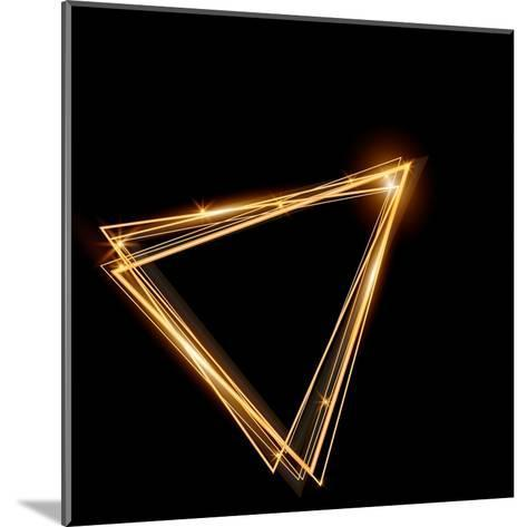 Gold Triangle Glowing Frame. Abstract Background. Jewelry Triangle. Can Use Design Element for Your-TTP999-Mounted Art Print