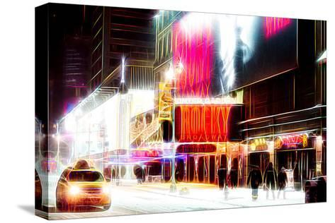 Manhattan Shine - Broadway Theater-Philippe Hugonnard-Stretched Canvas Print