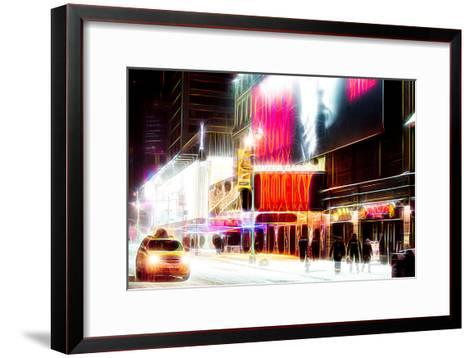Manhattan Shine - Broadway Theater-Philippe Hugonnard-Framed Art Print