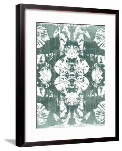 Sea Green Kaleidoscope IV-June Vess-Framed Art Print
