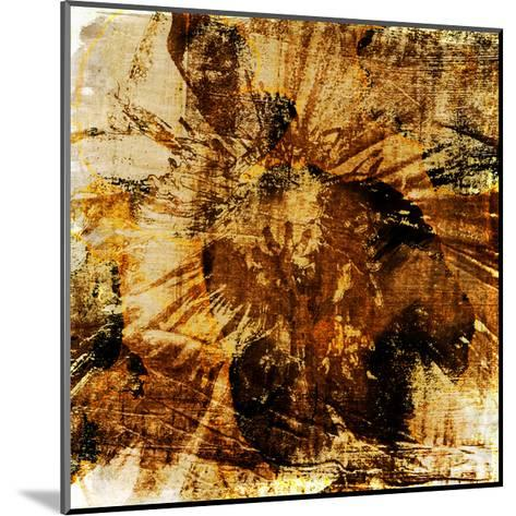 Poppy Gold II-Sia Aryai-Mounted Art Print