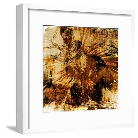 Poppy Gold II-Sia Aryai-Framed Art Print