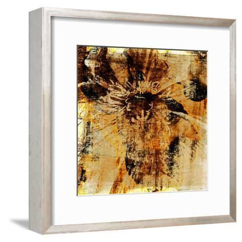 Poppy Gold III-Sia Aryai-Framed Art Print