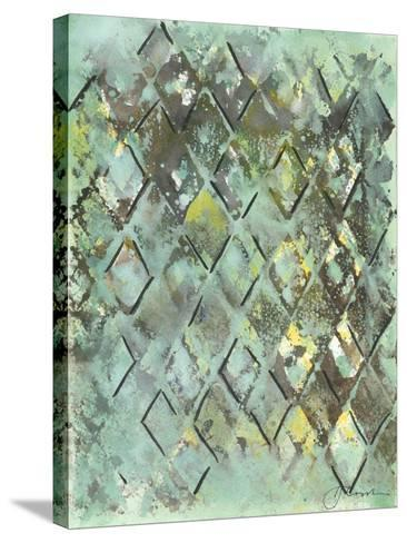 Lattice in Green I-Joyce Combs-Stretched Canvas Print