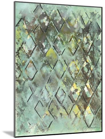 Lattice in Green I-Joyce Combs-Mounted Art Print