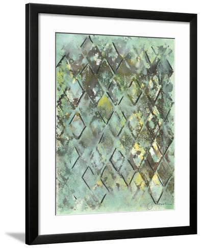 Lattice in Green I-Joyce Combs-Framed Art Print