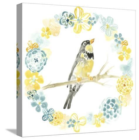 Solo Songbird I-June Vess-Stretched Canvas Print