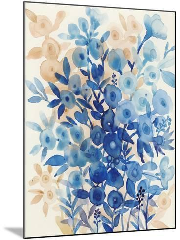 Blueberry Floral II-Tim OToole-Mounted Art Print