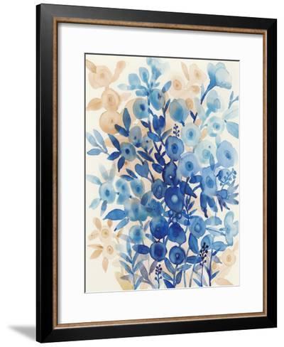 Blueberry Floral II-Tim OToole-Framed Art Print