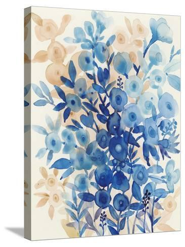 Blueberry Floral II-Tim OToole-Stretched Canvas Print