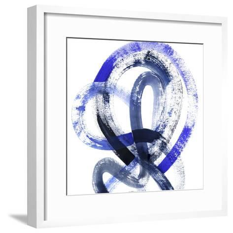 Blue Kinesis IV-Grace Popp-Framed Art Print