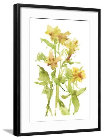 Watercolor Lilies II-Melissa Wang-Framed Art Print
