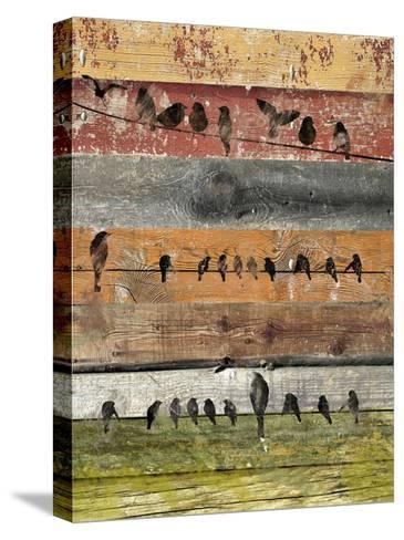 Birds on Wood I-Irena Orlov-Stretched Canvas Print