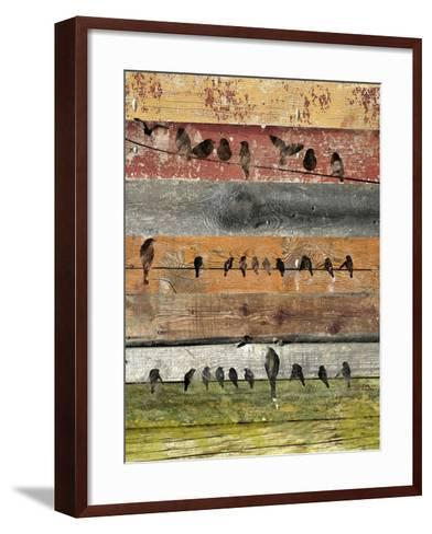 Birds on Wood I-Irena Orlov-Framed Art Print