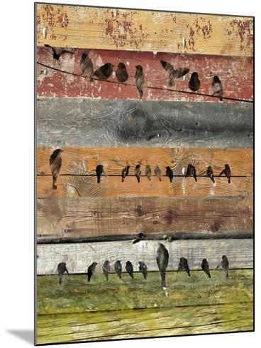 Birds on Wood I-Irena Orlov-Mounted Art Print