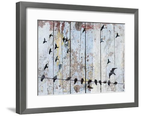 Birds on Wood III-Irena Orlov-Framed Art Print