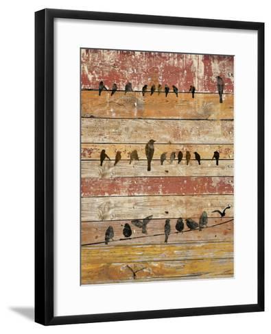 Birds on Wood II-Irena Orlov-Framed Art Print