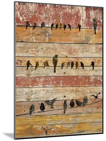 Birds on Wood II-Irena Orlov-Mounted Art Print