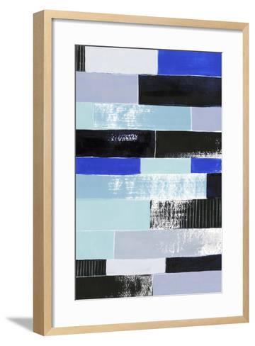Black & Blue Bricks II-Grace Popp-Framed Art Print