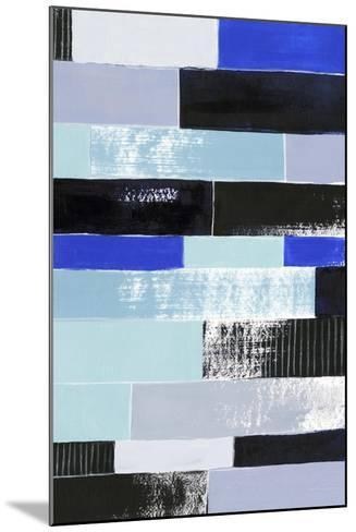 Black & Blue Bricks II-Grace Popp-Mounted Art Print