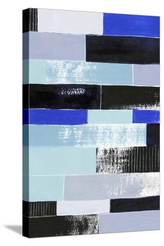 Black & Blue Bricks II-Grace Popp-Stretched Canvas Print