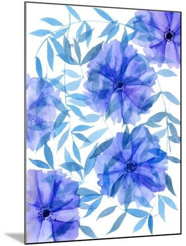 Midnight Flowers I-Melissa Wang-Mounted Art Print