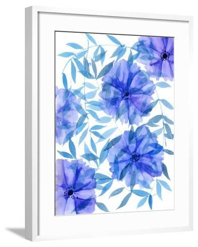 Midnight Flowers I-Melissa Wang-Framed Art Print