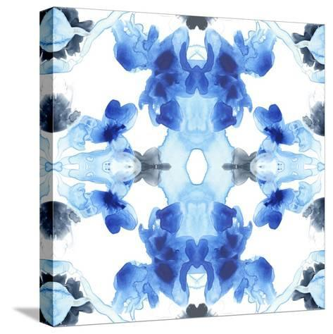 Blue Kaleidoscope III-June Vess-Stretched Canvas Print