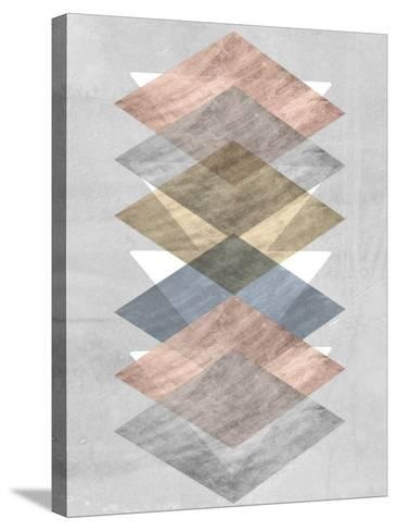 Diamond Allign II-Jennifer Goldberger-Stretched Canvas Print