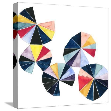 Pinwheel Bright II-Grace Popp-Stretched Canvas Print