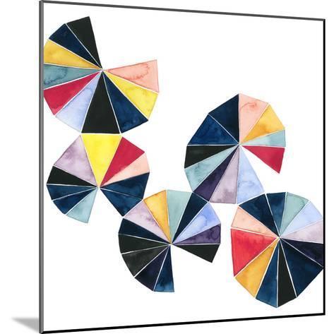 Pinwheel Bright II-Grace Popp-Mounted Art Print